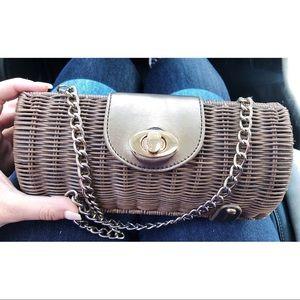 Wicker Style Clutch / Shoulder Bag